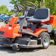 New Red Lawnmowers — Stock Photo