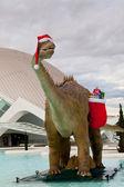 санта динозавров — Стоковое фото