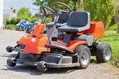 New Red Lawnmowers — Stock Photo