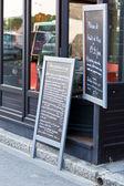 Cafe Blackboards — Stock Photo