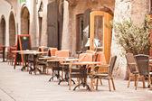 Outdoor street cafe — Stock Photo