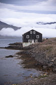 Black Wooden House in East Iceland — Стоковое фото
