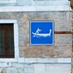 segno di gondola a Venezia, Italia — Foto Stock