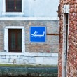 Royalty-Free Stock Photo: Gondola Sign in Venice, Italy