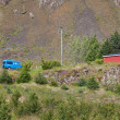 East Iceland Nature Landscape with House and Minibus — Stockfoto