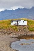 White Siding Icelandic House — Stock Photo