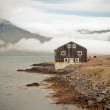 Black Wooden House in East Iceland — Stock Photo #16221359