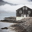 Black Wooden House in East Iceland — Stock Photo #16221377