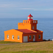 Stock Photo: SeLandscape with Orange Lighthouse