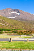 Empty resting area at Iceland roadside — Stock Photo
