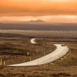 Foto Stock: Curve Highway through Iceland Landscape