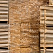 New Wooden Stacked Pallets — 图库照片