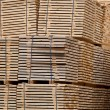 New Wooden Stacked Pallets — Stockfoto