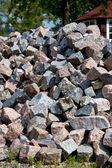 The Heap of Granite Stones — Stock Photo