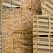 New Wooden Stacked Pallets — Stock Photo