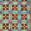 Azulejo - Old Ceramic Tile Background — Stock Photo