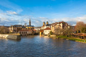 The Moselle River Flows through the Ancient Town of Metz, France — Stock Photo