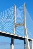 Modern bridge fragment — Stock Photo