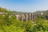 Large stone bridge in Dinan — Stock Photo