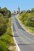 Rural Road at Western France — Stock Photo