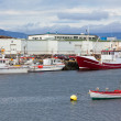 Stock Photo: Typical Iceland Harbor with Fishing Boats