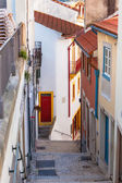 Narrow Street with Stairs in Old Town, Coimbra — Stock Photo