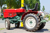 New Red Tractor — Стоковое фото