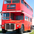 Stock Photo: Old Red London Double Decker Bus