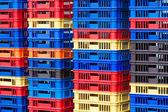 Kunststoffbehälter pfähle — Stockfoto