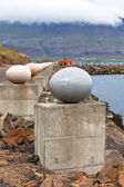 The Stone Eggs of Merry Bay, Djupivogur, Iceland — Stock Photo
