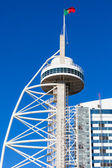 Vasco da Gama tower, Expo district, Lisbon, Portugal — Stock Photo