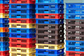 Bright Color Plastic Containers Piles -II — Стоковое фото