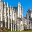 Jeronimos Monestary in Lisbon, Portugal - Stock Photo