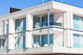 Balconies in a New Glass Wall Apartment House — Stock Photo