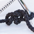 Black Boater Rope Knot — Stock Photo