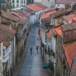 Looking down onto the Rainy Street of Old Town — Stock Photo #20325149