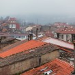 Rainy Old Town Rooftops — Stock Photo
