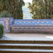 Azulejo Bench. Convent of Christ, Tomar, Portugal — Stock Photo #21519647