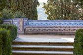 Azulejo-Bank. Kloster von Christ, Tomar, portugal — Stockfoto