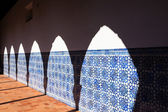 Arch Shadow at Azulejo Wall — Foto Stock