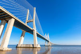 Modern bridge fragment: Vasco da Gama Bridge, Lisbon — Stock Photo