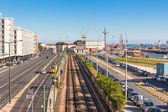 Lisbon Industrial Port District — Stock Photo