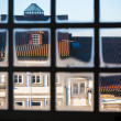 Old City View through Window Frame — Stock Photo