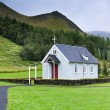 Typical Rural Icelandic Church at Overcast Day — Stock Photo