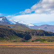 South Icelandic mountain landscape with glacier — Stock Photo