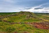 在冰岛的旧火山火山口。 — 图库照片
