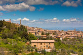 Tuscan wine town of Montalcino view, Italy — Stock Photo