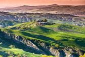 Light and shadows on Tuscan hills — Stock Photo