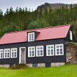 Typical Rural Icelandic house at overcast day — Stock Photo