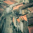 Looking down onto the Rainy Street of Old Town — Stock Photo #22411055